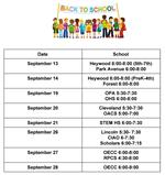 Back-to-School-Night Schedule