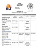 Assessment Calendar Bulletin