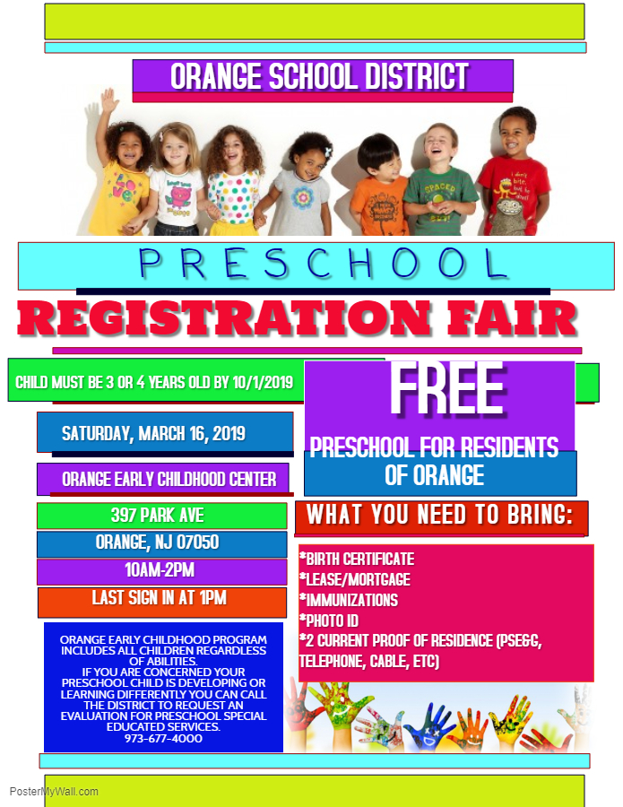 Preschool Registration Fair