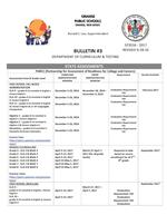 Parent Assessment Bulletin