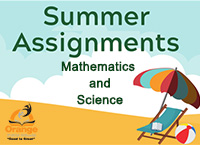 Summer Assignments Math and Science