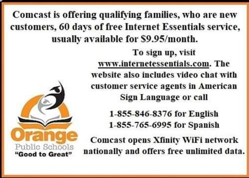 Comcast Free Internet