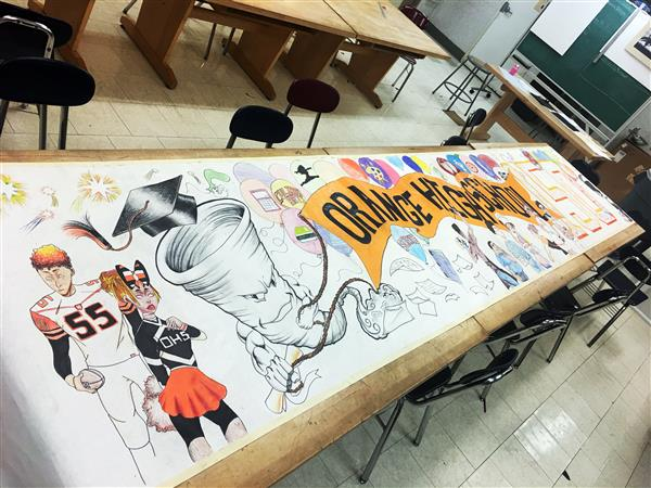 ORANGE HIGH SCHOOL'S 150th Anniversary Bannr by Advanced Illustration