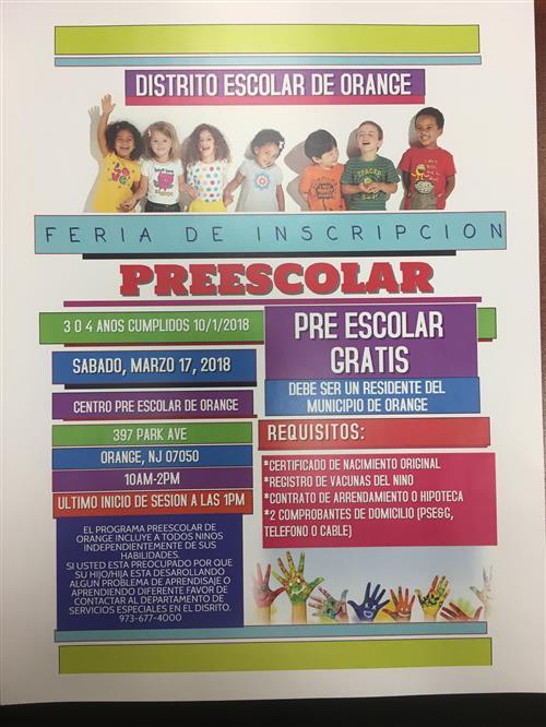 Preschool Registration / Overview