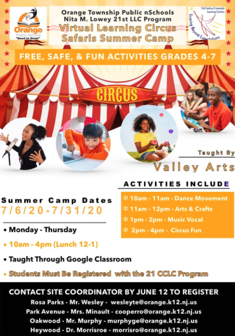 Virtual Learning Circus Safaris Summer Camp