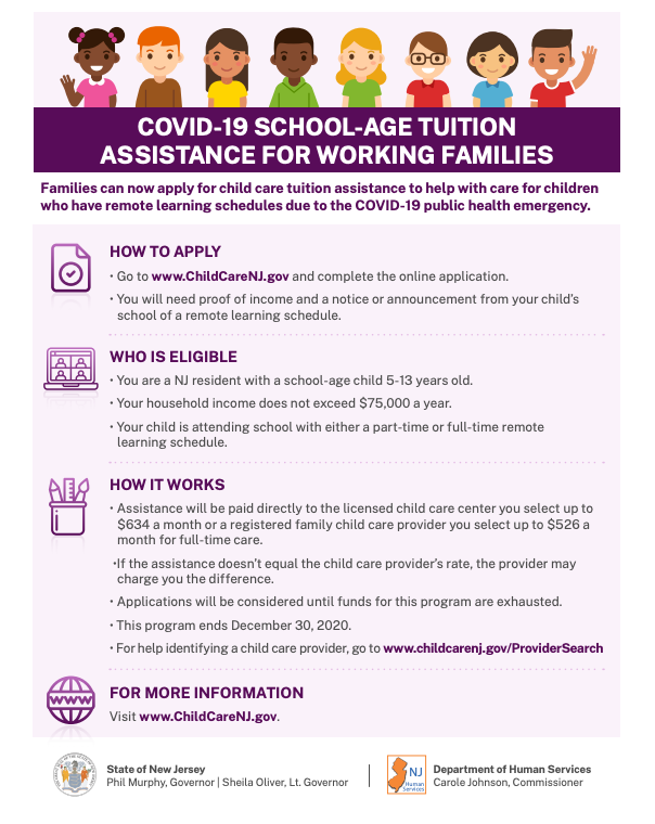 COVID-19 SCHOOL-AGE TUITION ASSISTANCE FOR WORKING FAMILIES