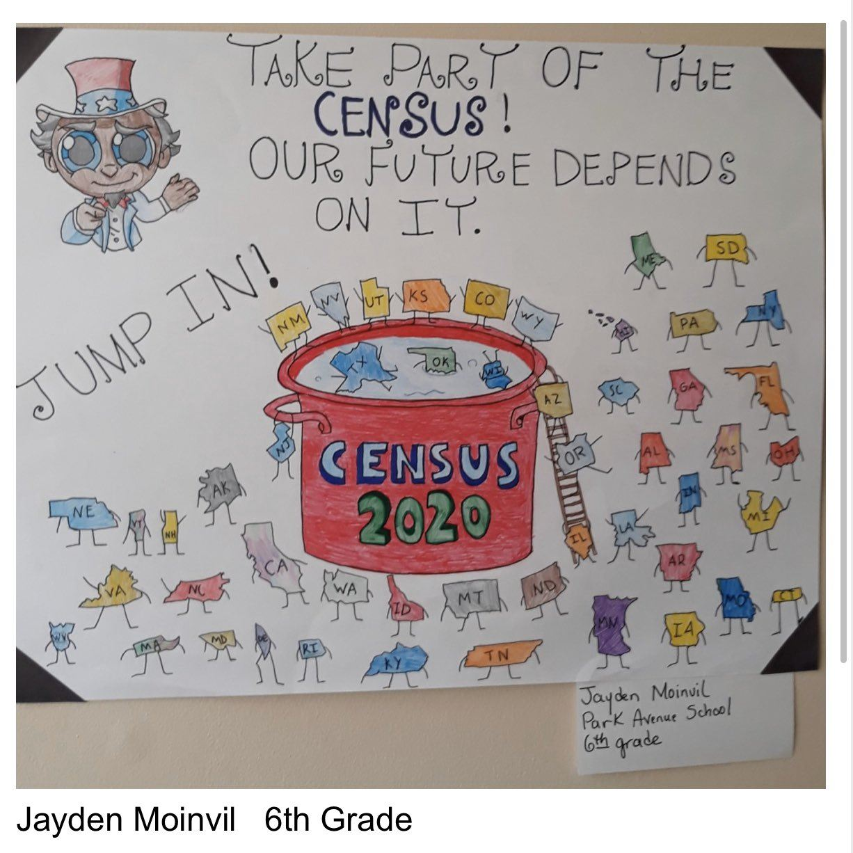District Wide Census 2020 Creative Arts Contest Winner