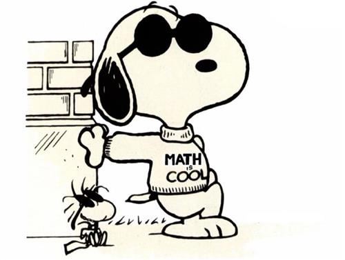snoopy math is cool