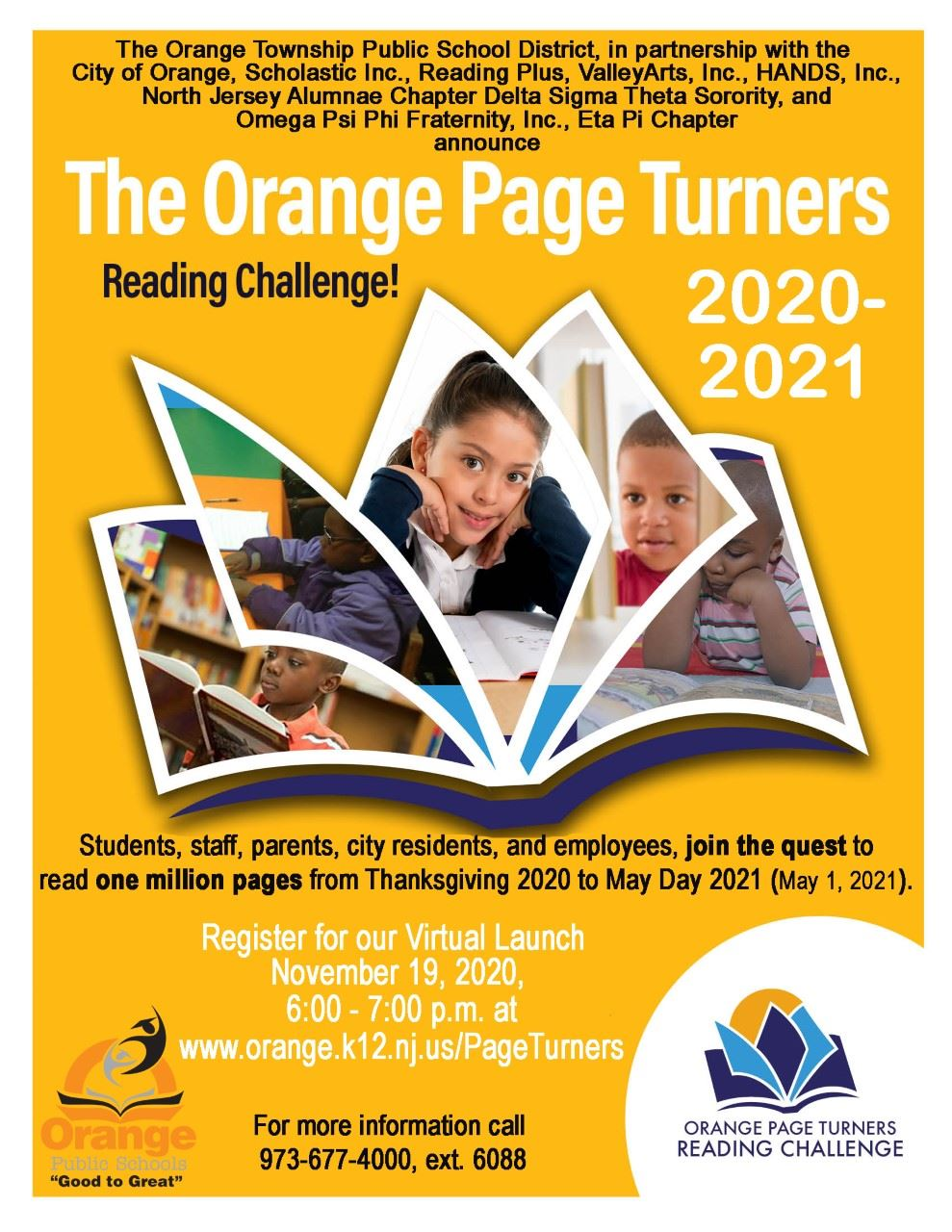 Join the quest to read one million pages from Thanksgiving 2020 to May Day 2021 (May 1, 2021). Regis