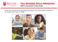 Rutgers University Division of Continuing Studies - Fall Reading Skills Programs