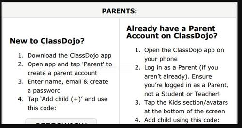 Class Dojo Instructions