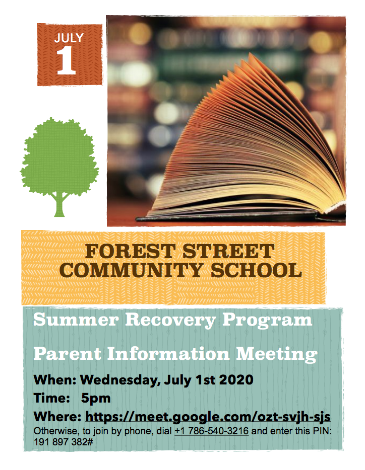 Summer Recovery Program Information