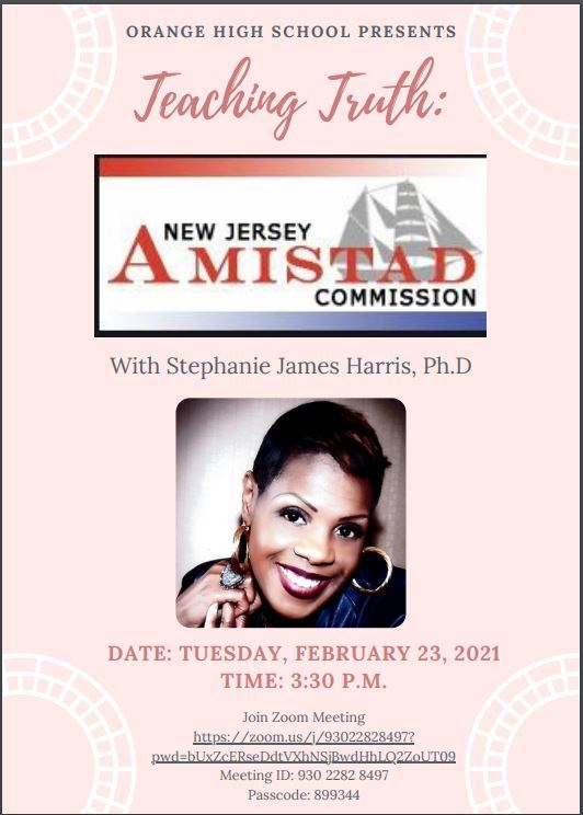OHS Welcomes Dr. Stephanie Harris James, NJ Amistad Commission