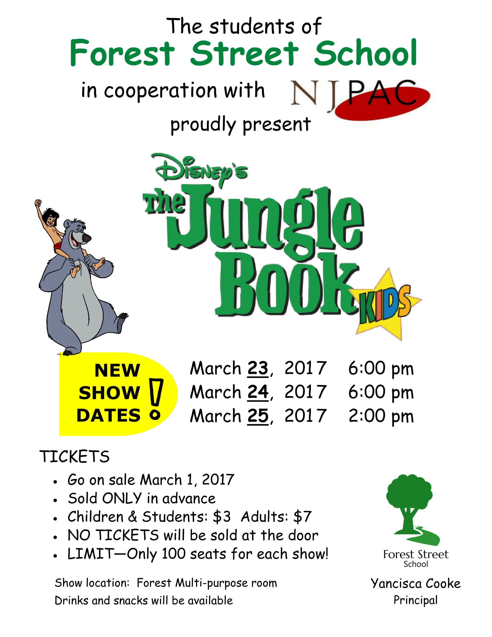 Forest Street School's Jungle Book Show Dates